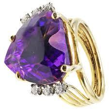 amethyst gold rings images Heart shape amethyst diamond gold ring for sale at 1stdibs jpg