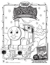 free thomas u0026 friends holiday coloring sheet jolly mom