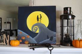running with scissors nightmare before christmas painting