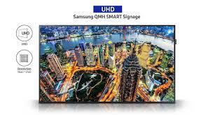 qm65h smart signage samsung display solutions