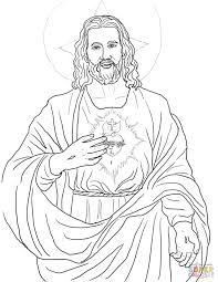 sacred heart coloring page free printable coloring pages