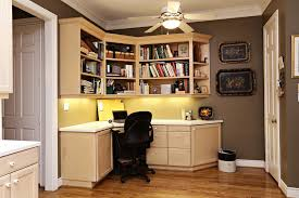 Built In Office Ideas Small Space For Office Room Witth L Shaped Broken White Stained