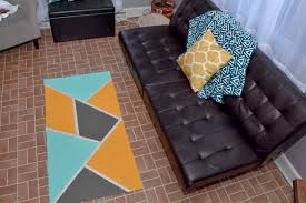 diy geometric canvas rug a little craft in your day