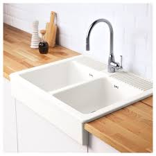 domsjo double bowl sink domsjö onset sink 2 bowls white 83x66 cm ikea
