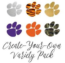 create your own variety pack of tiger paw inspired temporary
