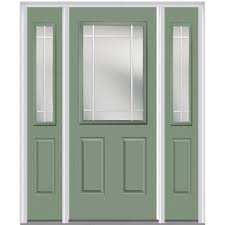 Steel Exterior Doors Home Depot by Mmi Door 64 In X 80 In Prairie Internal Muntins Right Hand 1 2