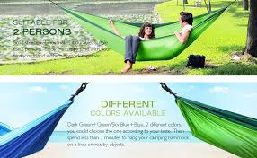 Winner Outfitters Double Camping Hammock by Amazon Com Shine Hai Double Camping Hammock Portable Lightweight