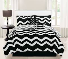 10 piece chevron black bed in a bag set