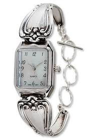 sterling silver bracelet watches images Ladies sterling silver watches silver spoon bracelet watch jpg