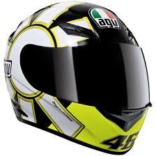 agv motocross helmets agv k 3 rossi gothic 46 black helmet motocard