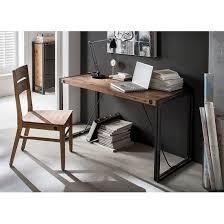 Schreibtisch Klein Schwarz Schreibtisch Manchester Aus Massiver Akazie U0026 Metall Home24