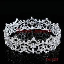 metal mother to be silver tiara hearts crown with sparkling