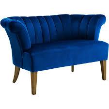 decor interesting light blue velvet settee tufted sofa and