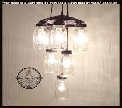 Canning Jar Lights Chandelier 203 Best Mason Jar Lights Images On Pinterest Mason Jar Lighting