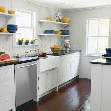 tiny galley kitchen design ideas before and after a kitchen revision open shelving face lifting