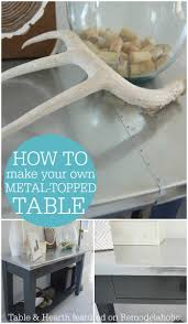 How To Make Your Own Kitchen Table by Remodelaholic Diy Metal Table Top Tutorial