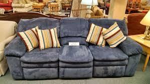 Blue Reclining Sofa by Berkline Blue Reclining Sofa Delmarva Furniture Consignment