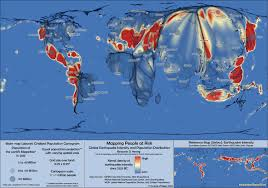Large World Map Poster by Earthquake Risk Zones A People U0027s Perspective Views Of The World