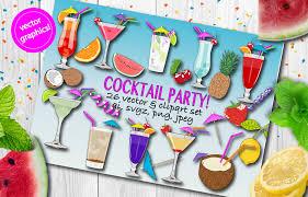 drinks clipart set drinks vectors cocktails clipart cocktails