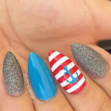 nails fresh anchor on nails ideas summer nail designs for 2018