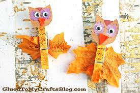 fall themed clothespin owl kid craft glued to my crafts