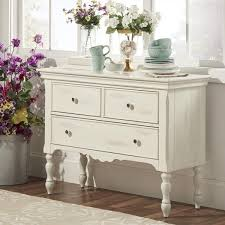 McKay Country Antique White Buffet Storage Server By INSPIRE Q - Tribecca home mckay country antique white pedestal extending dining table