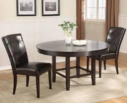 modus bossa 3 piece round dining room set in dark chocolate