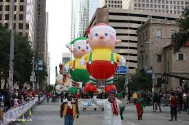 crowds gather for thanksgiving day parade in houston china