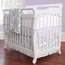 purple mini crib bedding carousel designs
