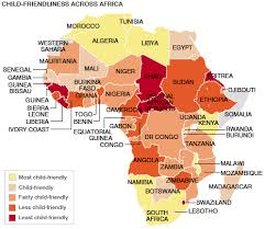 africa map labeled countries news africa child well being