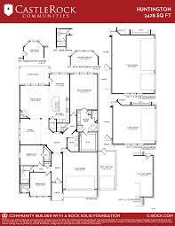 Huntington Floor Plan Huntington Gold Home Plan By Castlerock Communities In Sunfield