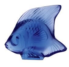 Sapphire Blue Lalique Sapphire Fish 4
