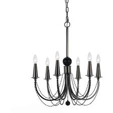 af lighting shelby 6 light nickel candle chandelier 8448 6h