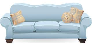 Sofa With Pillows Free Vector Graphic Couch Sofa Blue Pillows Free Image On