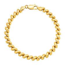 gold plated sterling silver bracelet images Baby san marco chain bracelet in 18k gold plated sterling silver jpg