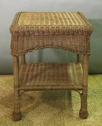 white wicker end table great attractive rattan end table with regard to household ideas