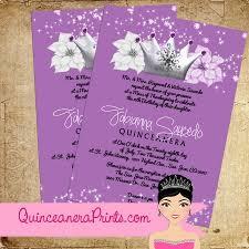 invitaciones para quinceanera invitacion quinceanera princesa morado xv años