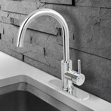 everflow kitchen faucet single handle single hole mount chrome