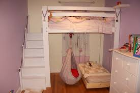 baby nursery modern kid loft bed for girls bedroom purple