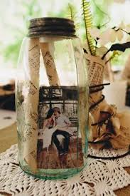 Rustic Mason Jar Centerpieces For Weddings by Photos In A Jar Very Inexpensive Table Settings Pinterest