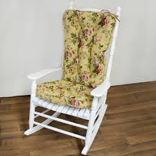 Tall Back Chairs by White Wooden Rocking Chair With Tall Back Completed By Yellow