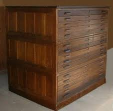 Filing Cabinets Wood Flat File Cabinets Foter