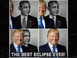 President Obama Meme - president trump retweets strange eclipse meme of obama mix93 3