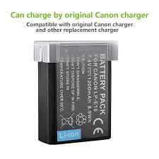 bps 1200mah lp e10 li ion battery for canon 1300d amazon co uk