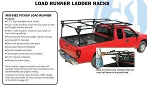 ford ranger ladder racks adrian steel mid size load runner ladder rack