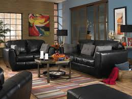 Black Leather Sofa Set Living Room Black Furniture Living Room Ideas With Leather Couch