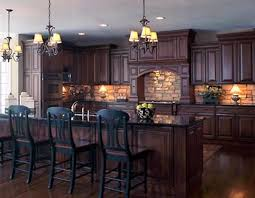 Brown Painted Kitchen Cabinets by Outstanding Dark Kitchen Cabinets Ideas Creates Elegant And