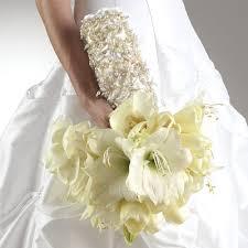 wedding flowers seattle using amaryllis in a wedding bouquet