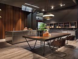 cuisine design bois cuisine inox et bois pur cuisine noir gris et bois