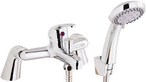 rio bath shower mixer tap supplied with hose handset and wall